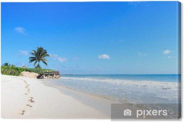 Cuadro en Lienzo Playa mexicana - América