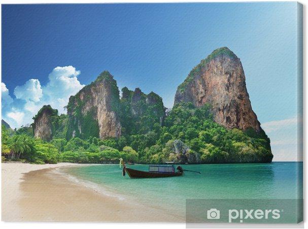 Cuadro en Lienzo Playa Railay en Krabi Tailandia - Temas