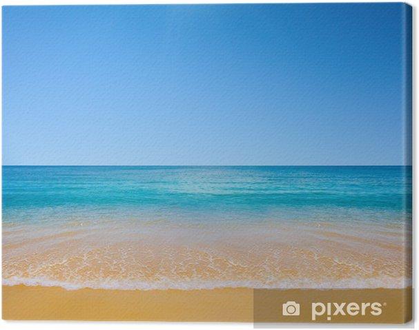 Cuadro en Lienzo Playa y mar tropical - Agua