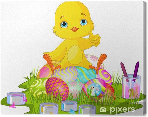 Cuadro en Lienzo Polluelo de Pascua - Pascua