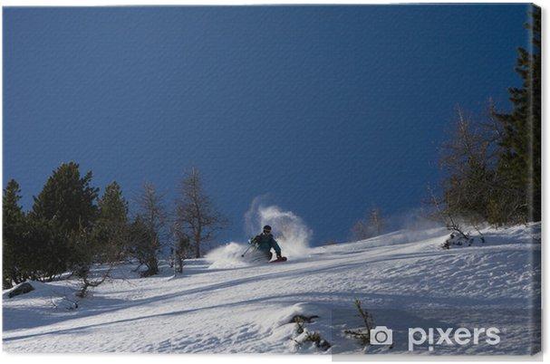 Cuadro en Lienzo Polvo del esquí 1 - Temas