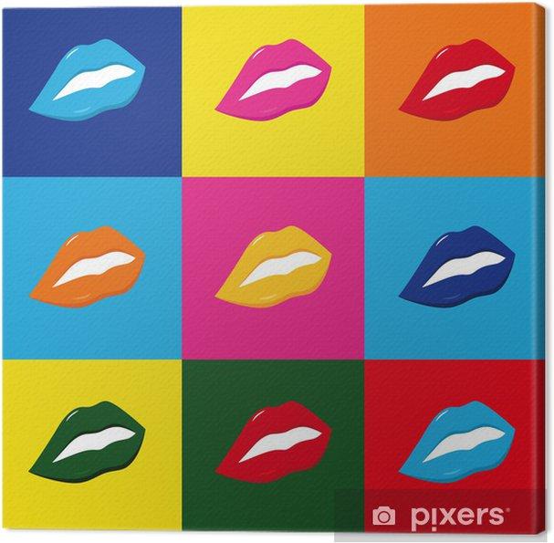 Cuadro en Lienzo Pop art Lippen - Temas