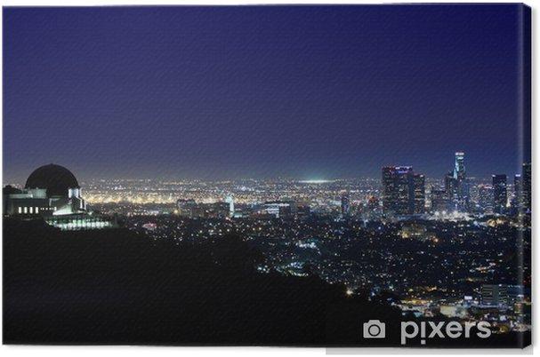 Cuadro en Lienzo Por encima de Los Ángeles Observatorio Griffith en Los Angeles, California - Temas