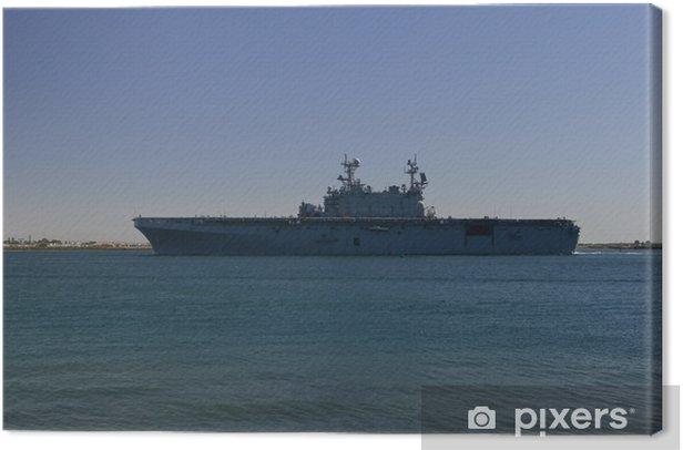 Cuadro en Lienzo Portaaviones De regreso de Mar - Barcos