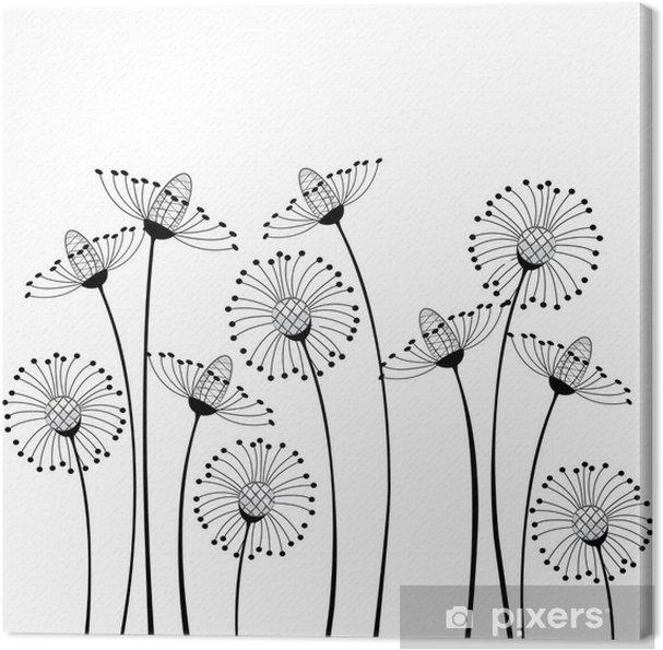 Cuadro en Lienzo Prado y flores - la ciencia y la naturaleza