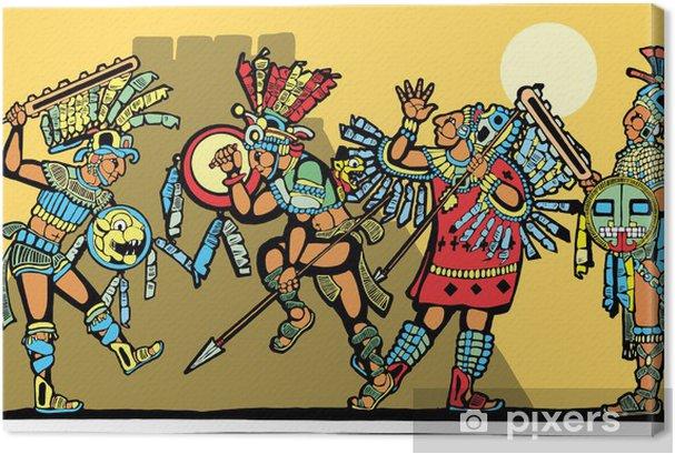 Cuadros en lienzo premium Batalla maya - Otros