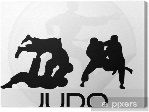 Cuadros en lienzo premium Judo icono - Deportes extremos