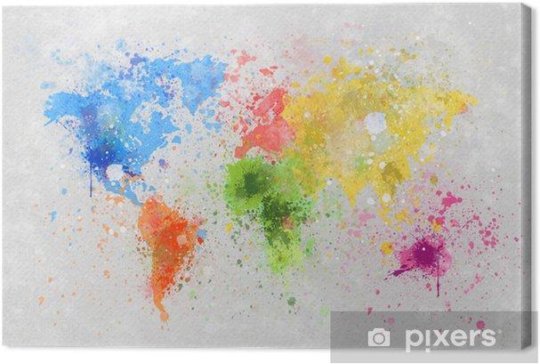 Cuadros en lienzo premium Mapamundi pintura -