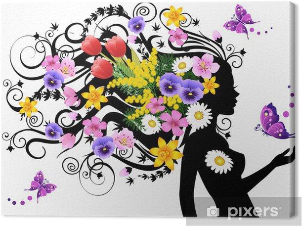 Cuadro en Lienzo Primavera de hadas - Moda