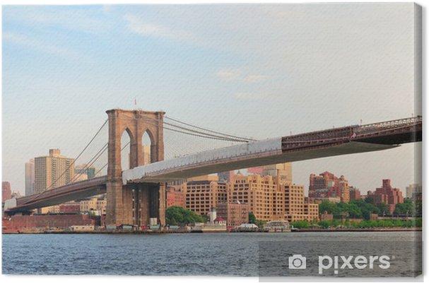 Cuadro en Lienzo Puente de Brooklyn panorama - Temas