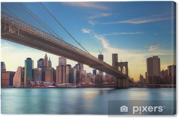 Cuadro en Lienzo Puente de Brooklyn v Manhattan, Nueva York. -