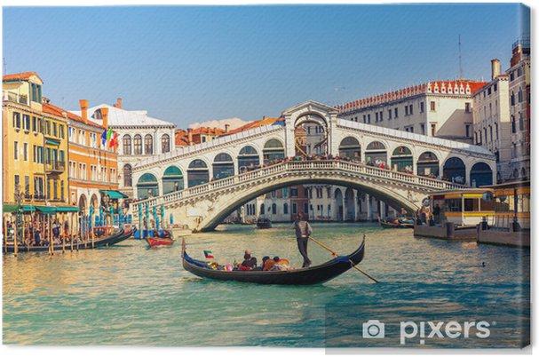 Cuadro en Lienzo Puente de Rialto en Venecia. - Temas