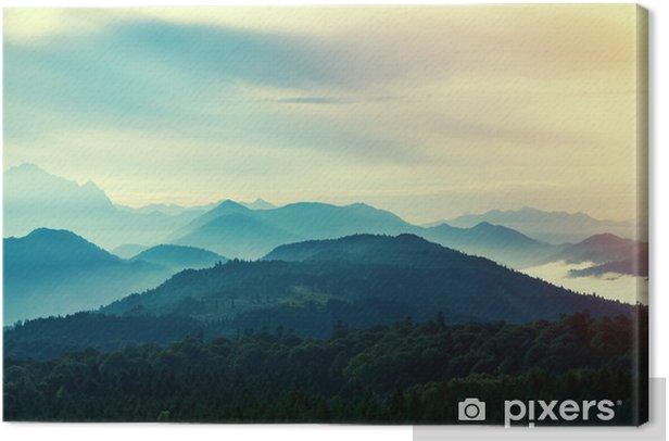 Cuadro en Lienzo Puesta de sol en las montañas - Paisajes