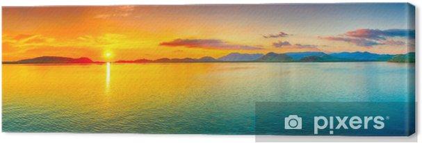 Cuadro en Lienzo Puesta de sol panorama - Temas