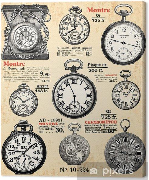 Cuadro en Lienzo Relojes refuerzos - Los Relojes