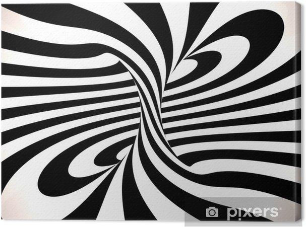 Cuadro en Lienzo Remolino de líneas, 3D - Abstractos
