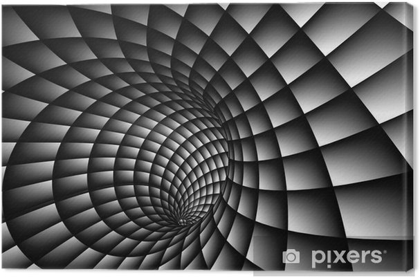 Cuadro en Lienzo Resumen 3D Spiral - Temas