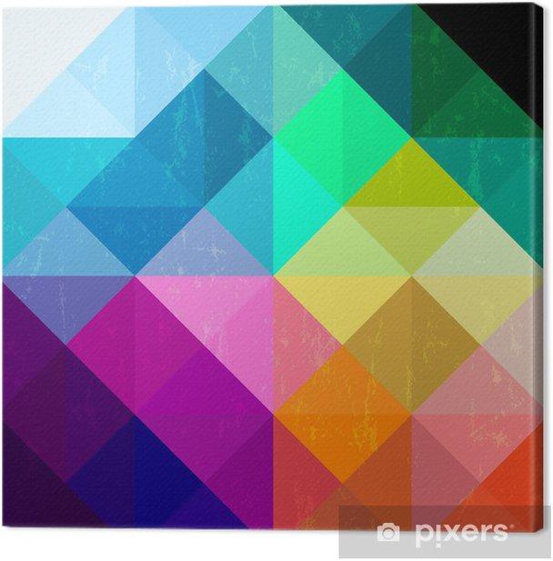 Cuadro en Lienzo Resumen de antecedentes patrón geométrico, con triángulos cuadrados / una - Temas