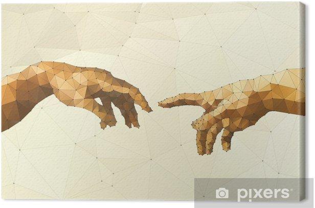 Cuadro en Lienzo Resumen ilustración vectorial mano de Dios - Recursos gráficos
