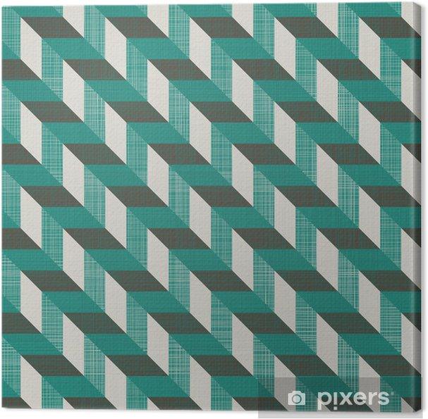 Cuadro en Lienzo Retro sin fisuras con líneas diagonales - Fondos