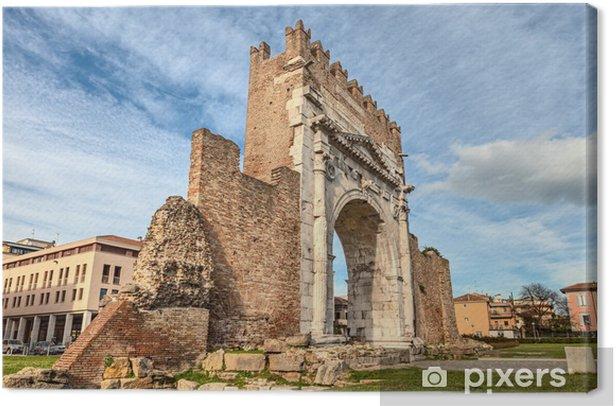 Cuadro en Lienzo Rimini, Italia - el Arco de Augusto - Europa