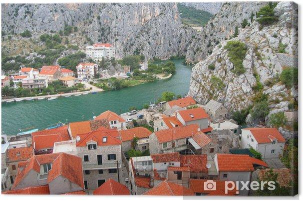 Cuadro en Lienzo Río Cetina Omisiu, Croacia - Europa