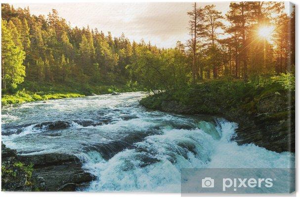 Cuadro en Lienzo Río en Noruega - Temas