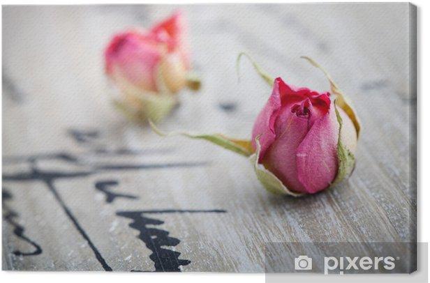 Cuadro en Lienzo Rosas secas - Celebraciones internacionales