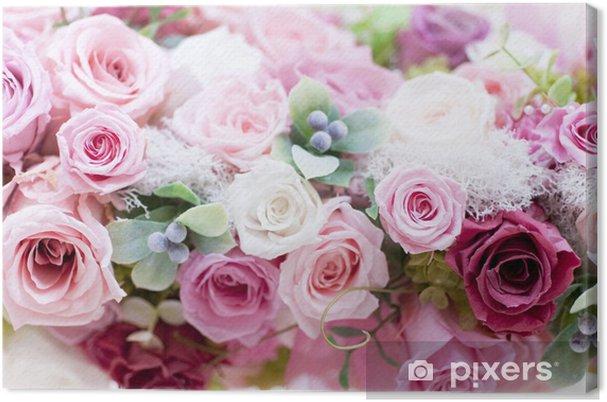 Cuadro en Lienzo Roses Roses Pink Conservas - Temas