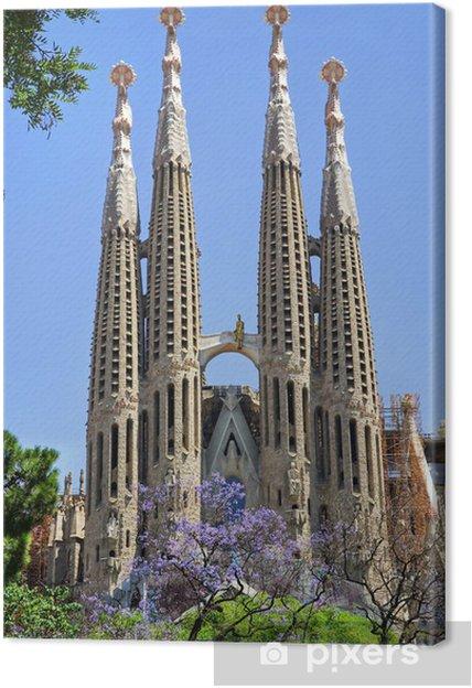 Cuadro en Lienzo Sagrada Familia - Barcelona / España - Temas