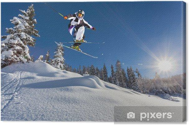 Cuadro en Lienzo Saltar en la nieve fresca - Eqsuí