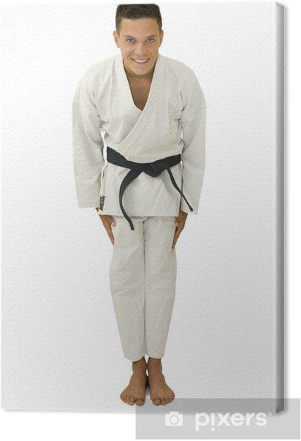 Cuadro en Lienzo Saluer au judo - Deportes individuales