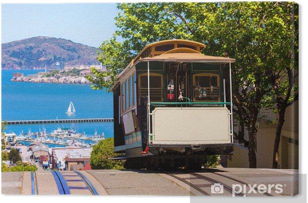 Cuadro en Lienzo San Francisco Hyde Street Cable Car California - Ciudades norteamericanas