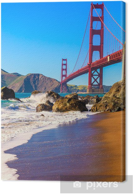 Cuadro en Lienzo San Francisco Puente Golden Gate Marshall playa de California - Temas