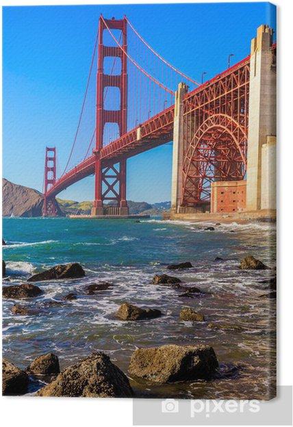 Cuadro en Lienzo San Francisco Puente Golden Gate Marshall playa de California - Ciudades norteamericanas