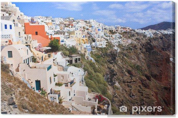 Cuadro en Lienzo Santorini paisaje - Europa