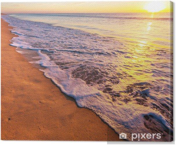 Cuadro en Lienzo Sea sunset - Vacaciones