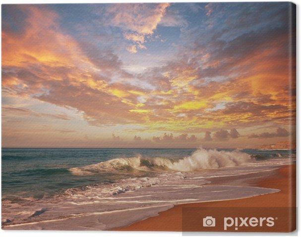 Cuadro en Lienzo Sea sunset - Temas