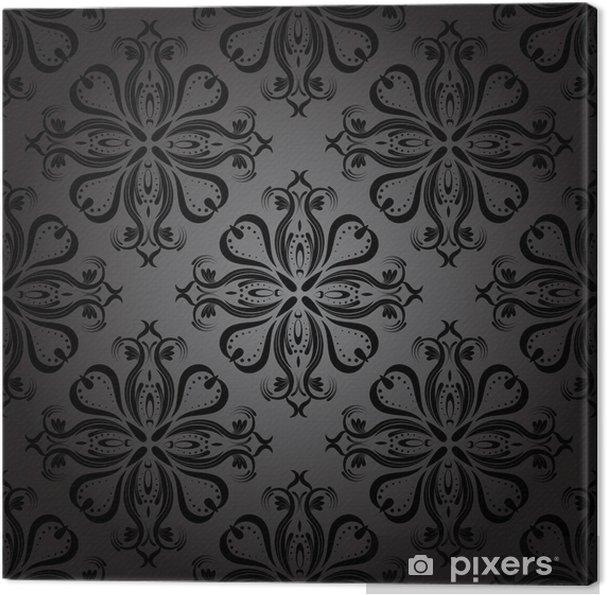 Cuadro en Lienzo Seamless Oscuro Wallpaper - Fondos
