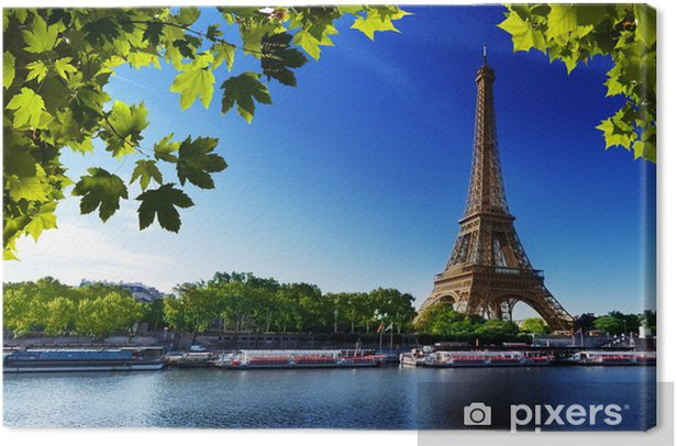 Cuadro en Lienzo Sena en París con la torre Eiffel - Temas