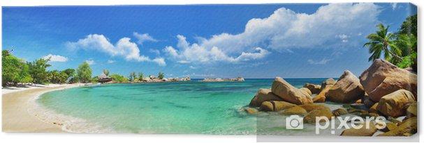 Cuadro en Lienzo Seychelles, panorama de la playa - Temas