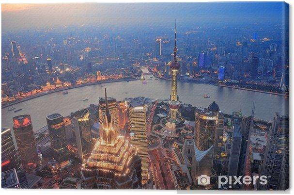 Cuadro en Lienzo Shanghai atardecer - Ciudades asiáticas