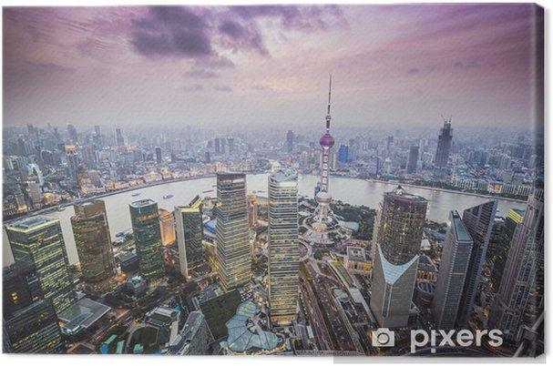 Cuadro en Lienzo Shanghai, China Vista aérea - Temas