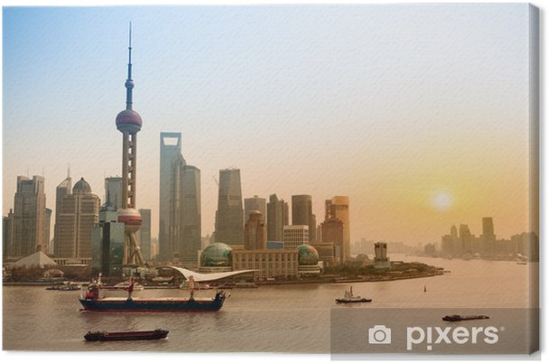 Cuadro en Lienzo Shanghai skyline at dusk - Temas