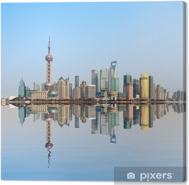 Cuadro en Lienzo Shanghai skyline - Industria pesada