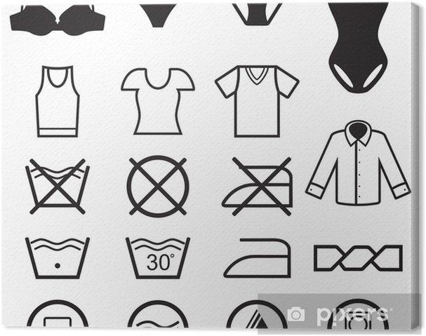 Cuadro en Lienzo Símbolos de lavado colección - Ventas