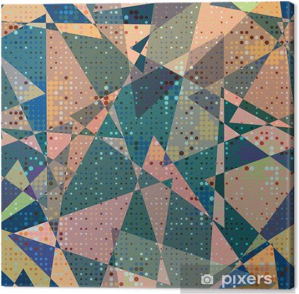Cuadro en Lienzo Sin fisuras patrón geométrico - Recursos gráficos