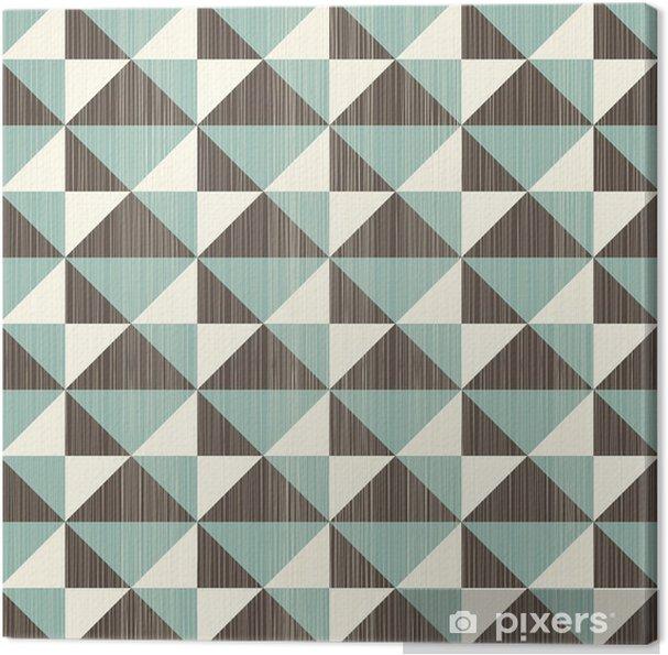 Cuadro en Lienzo Sin patrón abstracto retro en gris azul y marrón - Temas