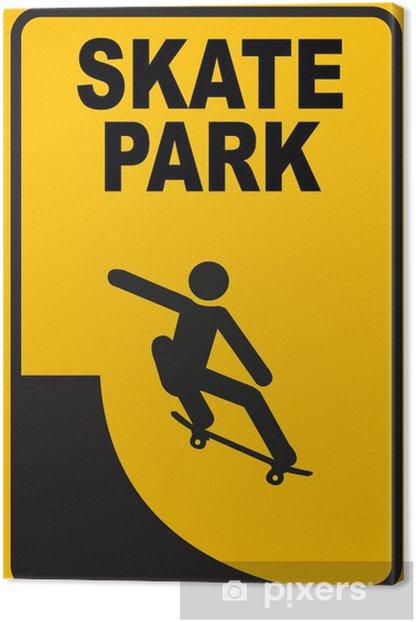 Cuadro en Lienzo Skate park - Deportes individuales