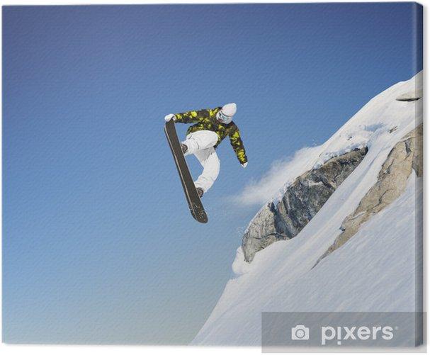 Cuadro en Lienzo Snowboard jump - Deportes individuales